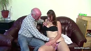 Blowjob, Virgin, Huge, Grandfather, Young, Monster, Oral